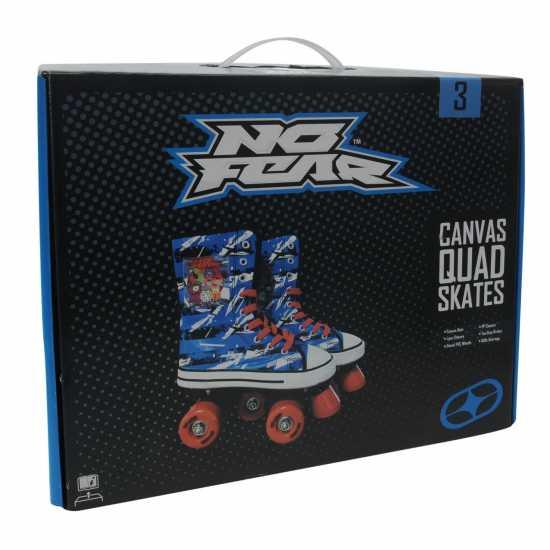 No Fear Платнени Детски Кънки Canvas Childrens Quad Skates Blue/Red Детски ролкови кънки