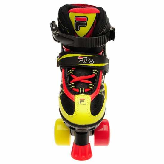 Fila Ролкови Кънки Joy Quad Skates Junior Boys Black/Red/Yel Детски ролкови кънки