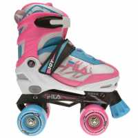 Fila Ролкови Кънки Joy Quad Skates Gl00 White/Pink/Blue Детски ролкови кънки