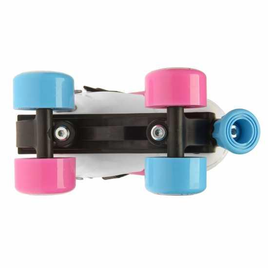 Fila Ролкови Кънки Joy Quad Skates Girls White/Pink/Blue Детски ролкови кънки
