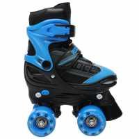 Roces Детски Кънки Quaddy Junior Quad Skates Black/Blue Детски ролкови кънки