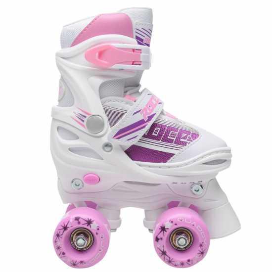 Roces Quaddy Quadskt Gl91 White/Pink Детски ролкови кънки