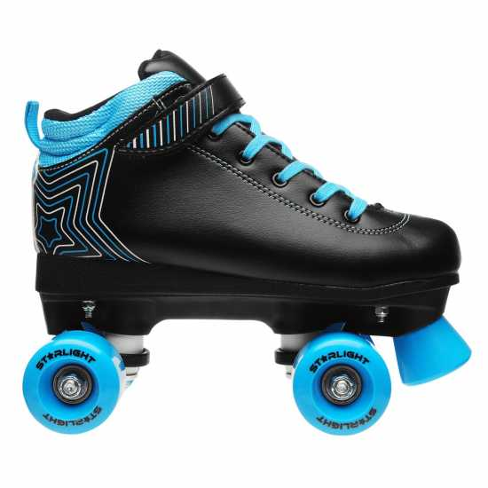 Rookie Starlight Quad Roller Skates Junior Boys Black/Blue Детски ролкови кънки