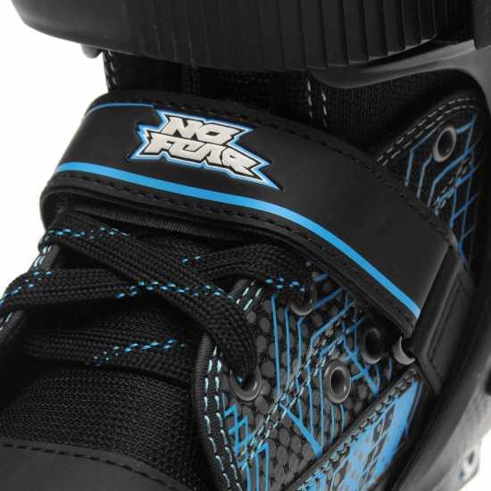 No Fear Детски Ролкови Кънки Bolt Quad Skates Junior Boys Black/Blue Детски ролкови кънки
