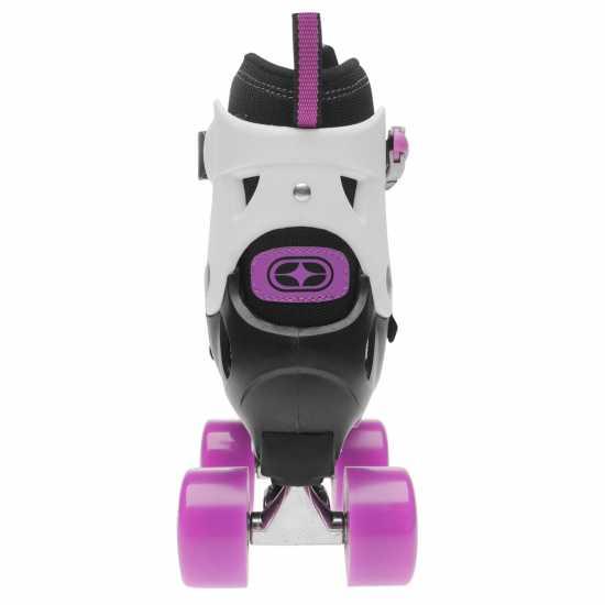 No Fear Детски Ролкови Кънки Mist Quad Skates Junior Girls Black/Purple Детски ролкови кънки