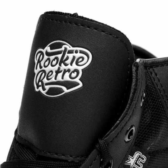 Детски Кънки Rookie Retro V2.1 Junior Quad Skates Black/White Детски ролкови кънки