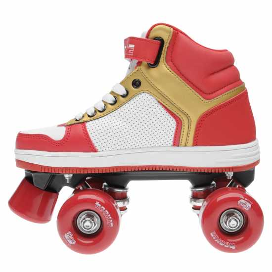 Rookie Hype Hi Top Trainer Girls Quad Skates White/Red/Gold Детски ролкови кънки