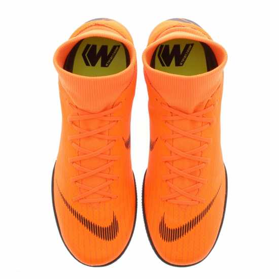 Nike Мъжки Футболни Маратонки Mercurial Superfly Academy Mens Indoor Football Trainers Orange/Black Мъжки футболни бутонки