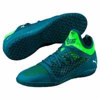Puma Маратонки За Футбол В Зала 365 Ignite Netfit Indoor Football Trainers Blue/Wht/Green Мъжки футболни бутонки