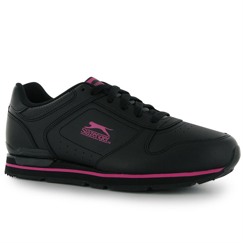 2c4f44aa83c Slazenger Класически Дамски Маратонки Classic Ladies Trainers Black/Cerise  Дамски маратонки