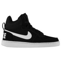 Nike Дамски Маратонки Court Borough Mid Top Ladies Trainers Black/White Дамски високи кецове