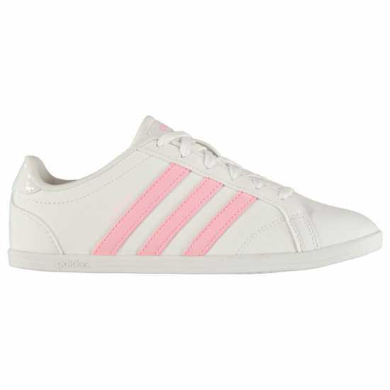 Adidas Дамски Маратонки Coneo Qt Ladies Trainers White/AeroPink Дамски маратонки