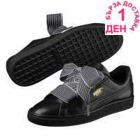 Puma Basket Heart Trainers Black Дамски маратонки