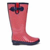 Requisite Гумени Ботуши На Точки Spot Welly Ladies Red Дамски гумени ботуши