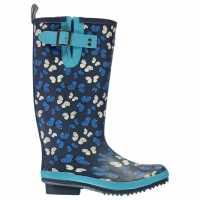 Дамски Гумени Ботуши Briers Butterfly Ladies Wellington Boots Blue Butterfly Дамски гумени ботуши