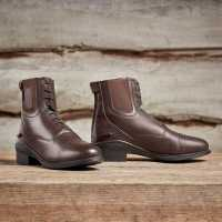 Dublin Боти За Езда Evolution Lace Front Paddock Boots Brown Дамски ботуши