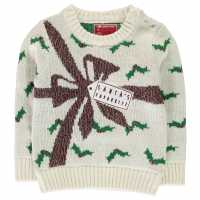 Star Детски Пуловер За Момиче Christmas Knitted Jumper Infant Girls Present Коледни пуловери