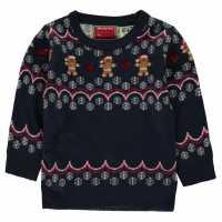Star Детски Пуловер За Момиче Christmas Knitted Jumper Infant Girls GB Fairisle Коледни пуловери