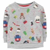 Star Блуза Обло Деколте Christmas Crew Neck Sweatshirt Infants Xmas Family AOP Коледни пуловери
