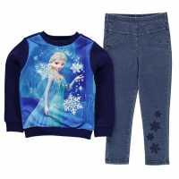 Character Jegging Set 2 Pieces Infant Girls Disney Frozen Детско облекло с герои