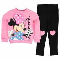 Character Jegging Set 2 Pieces Infant Girls Disney Minnie Детско облекло с герои