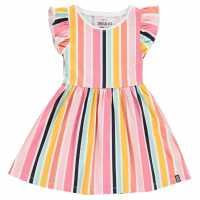 Soulcal Рокля За Момиченца Dress Infant Girls Ochre Striped Детски поли и рокли
