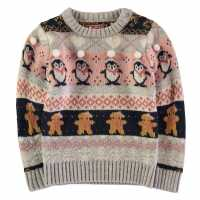 Star Christmas Knit Infant Girls  Коледни пуловери
