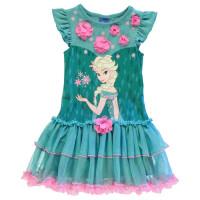 Character Рокля За Момиченца Play Dress Infant Girls Frozen Elsa Детски поли и рокли