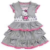 Character Рокля За Момиченца Play Dress Infant Girls Hello Kitty Детски поли и рокли