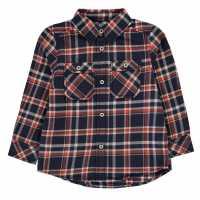 Benetton Карирана Дамска Риза Check Shirt 922 Orange Детски ризи