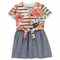 Soulcal Рокля За Момиченца Stripe Frill Dress Infant Girls Tie Front Детски поли и рокли
