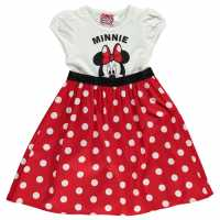 Character Woven Dress Girls Minnie Mouse Детски поли и рокли