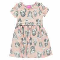Character Рокля Жарсе Jersey Dress Infants Disney Princess Детски поли и рокли