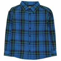 Crafted Фланелена Риза Flannel Shirt Infant Boys Green Check Детски ризи