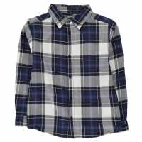 Crafted Фланелена Риза Flannel Shirt Infant Boys Navy Детски ризи