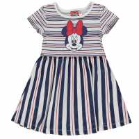 Character Рокля За Момиченца Jersey Dress Infant Girls Minnie Mouse Детски поли и рокли