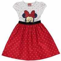 Character Рокля За Момиченца Woven Dress Infant Girls Minnie Mouse Детски поли и рокли