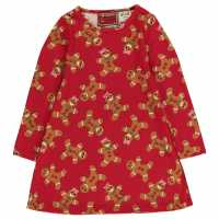 Star Рокля За Момиченца Christmas Printed Dress Infant Girls G/Bread AOP Детски поли и рокли