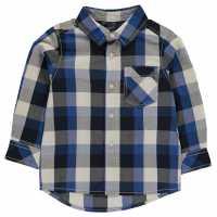 Benetton Карирана Риза Checked Shirt Blue 901 Детски ризи
