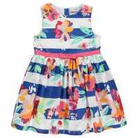 Soulcal Рокля За Момиченца Woven Dress Infant Girls Border Hem Детски поли и рокли
