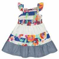 Soulcal Рокля За Момиченца Woven Dress Infant Girls Patchwork Детски поли и рокли