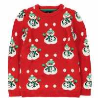 Коледен Пуловер За Момчета Threadbare Christmas Jumper Junior Boys  Коледни пуловери