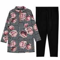 Firetrap Pack Aop Dress Rose Check Детски поли и рокли