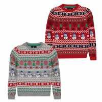 Коледен Пуловер Threadbare Xmas Jumper Junior Boys  Коледни пуловери