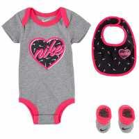 Sale Nike Heart Body/bootie 3 Pack Baby Girls  Бебешки дрехи