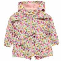 Crafted Essentials Яке Момичета Rain Jacket Girls Pink Multi Детски якета и палта