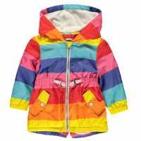 Crafted Essentials Яке Момичета Rain Jacket Girls Multi Детски якета и палта