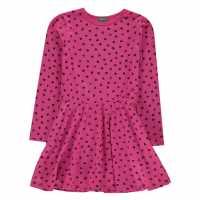 Benetton Heart Dress 73A Pink Детски поли и рокли
