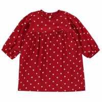 Benetton Heart Dress In93 62Z Red Детски поли и рокли