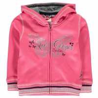 Lee Cooper Glitzy Zipped Sweater Infant Girls Pink Детски суитчъри и блузи с качулки